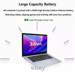 15.6 pouces 8GB RAM 256 GB/512 GB SSD ordinateur portable intel J3455 Quad Core