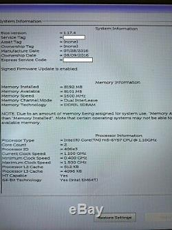 Dell Latitude 7370 13.3 8Go RAM 256Go SSD Core M5-6Y57 ultrabook Excellent Etat
