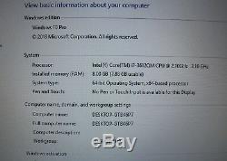 Dell XPS 15 L521X Quad Core i7 3612QM, 8 GB Ram, 500 GB HDD with 32 GB SSD