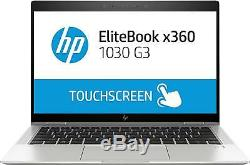 HP EliteBook x360 1030 G3 Argent Hybride (2-en-1) core i7 512G SSD tactile