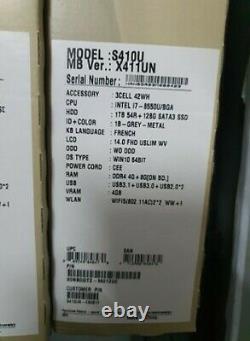 Laptop ASUS S410UN-EB081T Core i7-8550U/BGA, HDD 1Tb 54R+128G SATA3 SSD, DDR4 4G