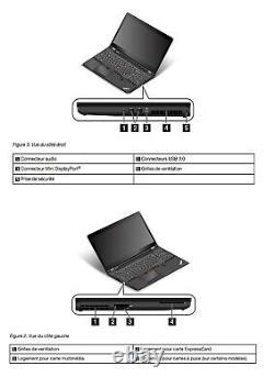 Lenovo Thinkpad P50 Core I7 UHD 3840 x 2160 2 SSD (512 + 256 Go)