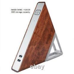MINI PC triangulaire N3450 Quad Core 8GB RAM 64GB+128GB SSD pour Win 10 Pro Kit